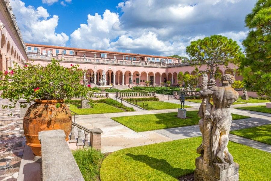 Ringling courtyard in Sarasota, Florida