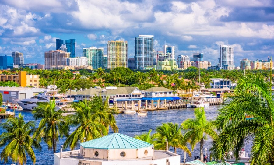 View of the Fort Lauderdale skyline