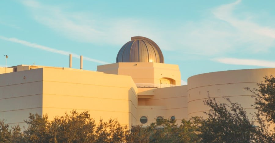 View of exterior of the Orlando Science Center