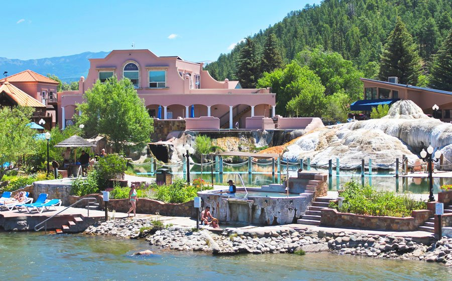 View of people having their time at Pagosa Hot Springs Resort