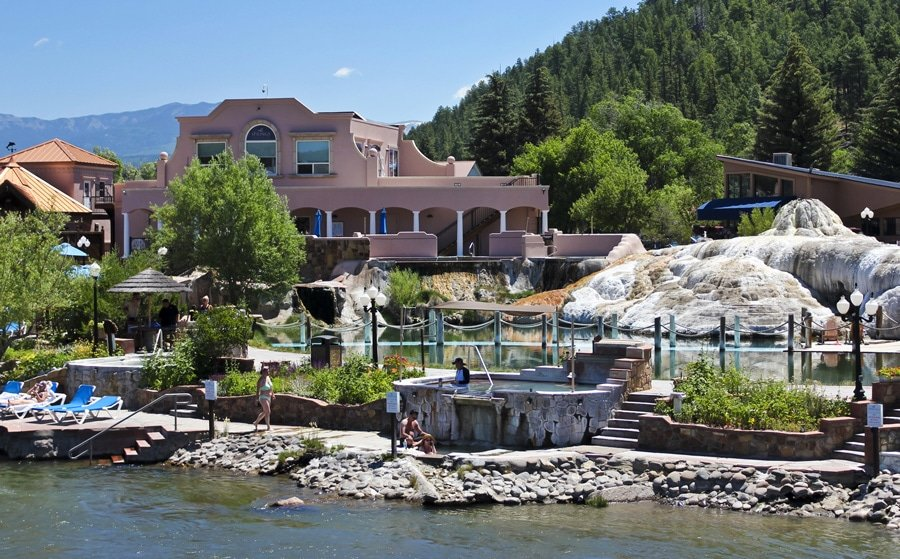 View of springs and spa in Pagosa Springs