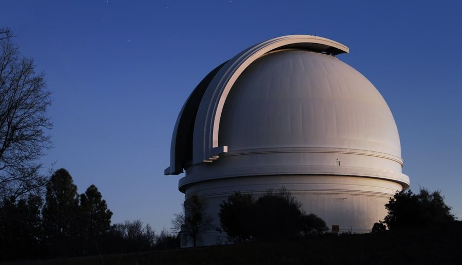 Scenic view of the night sky in Palomar Observatory