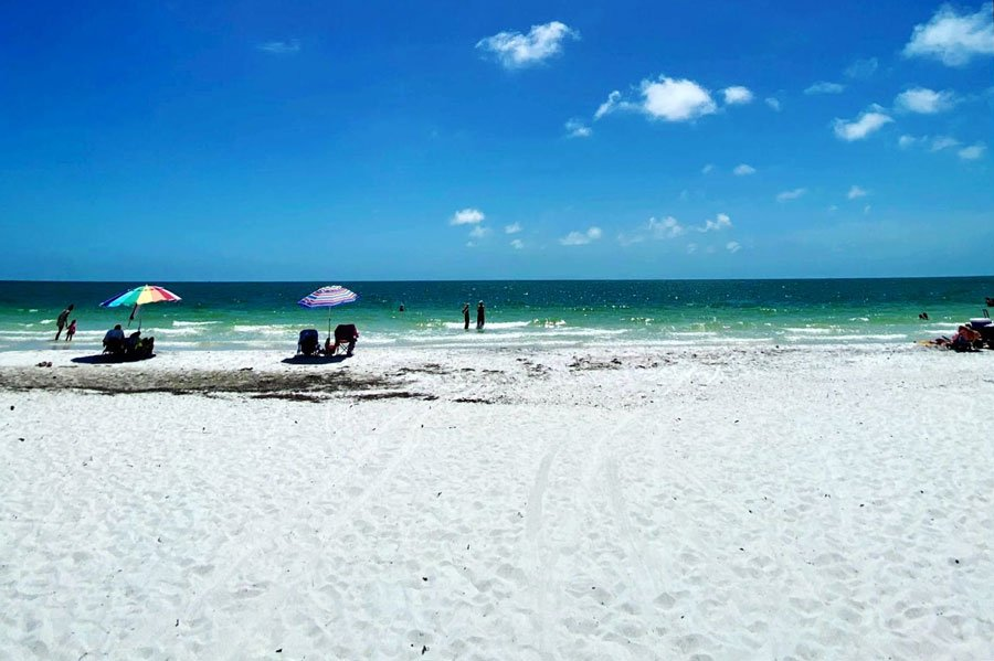 View of tourists in Panama City Beach