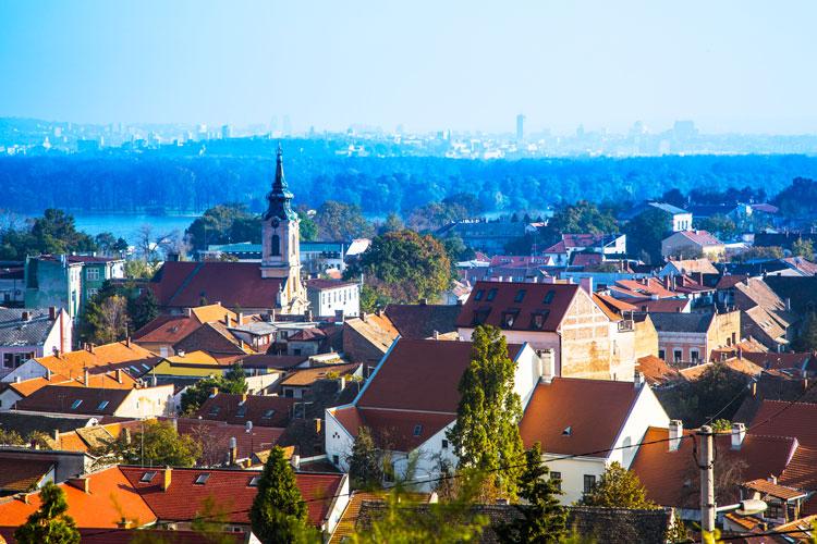 View of Zemun city Serbia