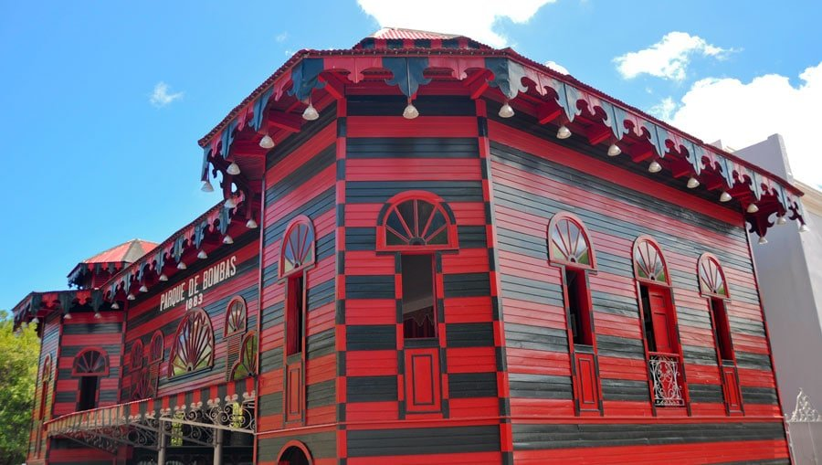 View of the ancient firehouse in Ponce