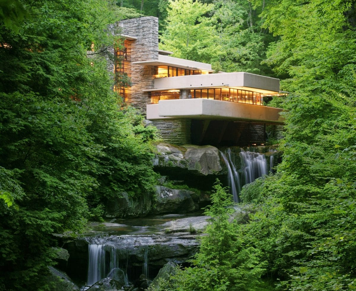 Building in forest in Laurel Highlands, Pennsylvania