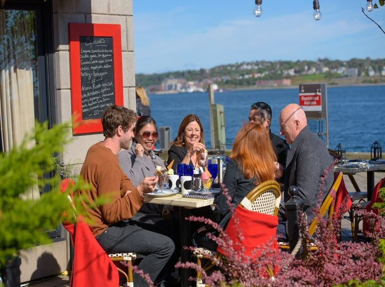 People eating in Halifax Nova Scotia