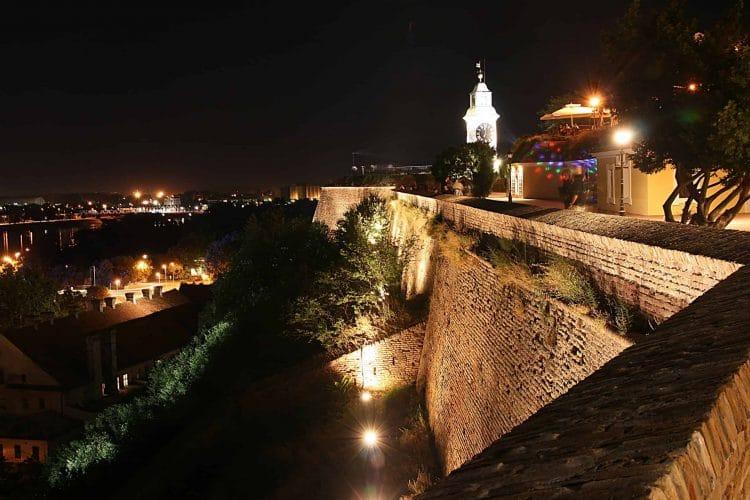 Novi Sad fortress at night