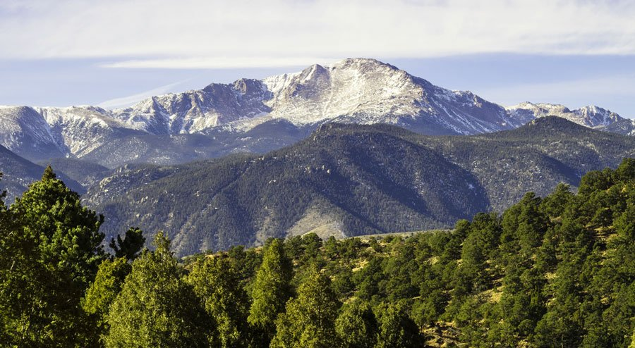 View of Pikes Peak from afar