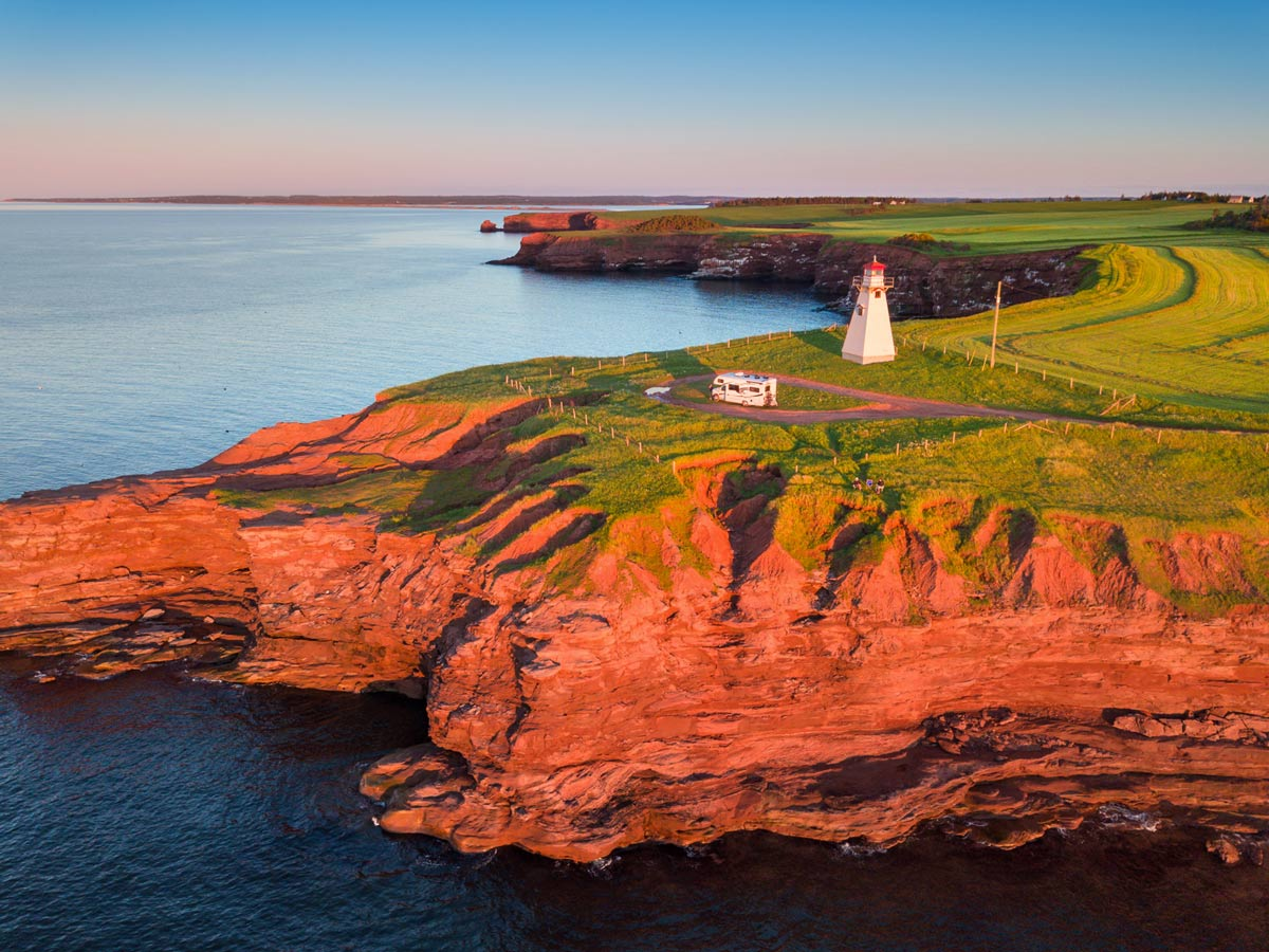 Red cliffs on Prince Edward Island