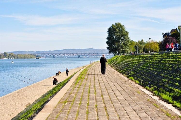 Promenade Along Danube in Belgrade