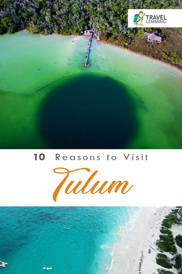 Mexico's Tulum is well known for its beautiful beaches. But that's not the only reason why Tulum is worth every traveler's attention. In this article, we give you ten reasons why you should visit #Tulum #Mexico. #Cenotes #MayanRuins #ChichenItza