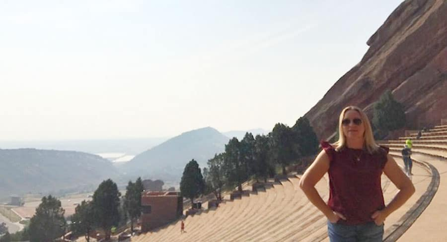 View of the author in Red Rocks Park