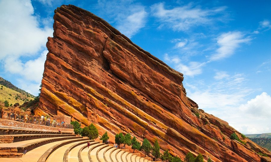 View of the famous Red Rocks amphitheater