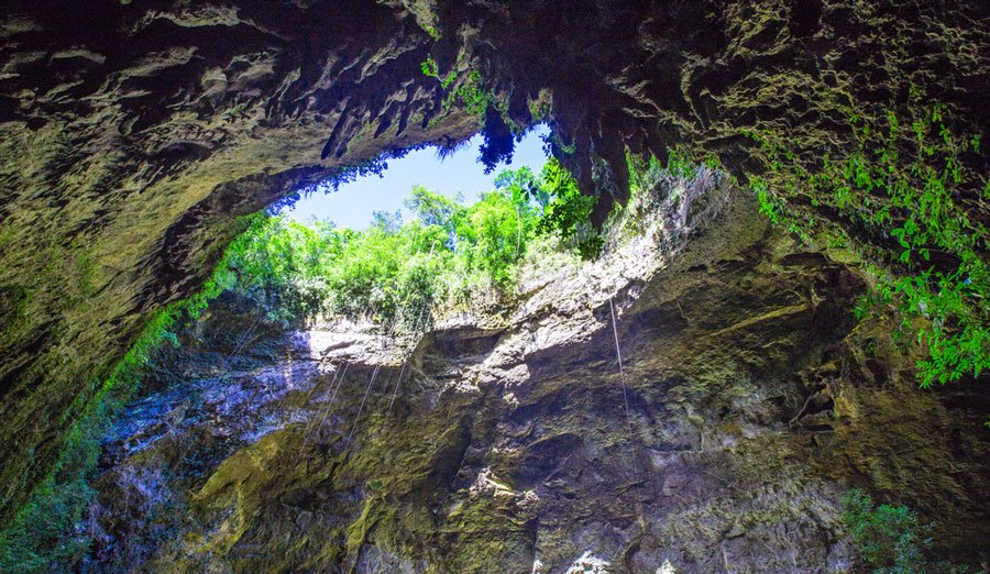 View of the Rio Camuy Cave from the inside