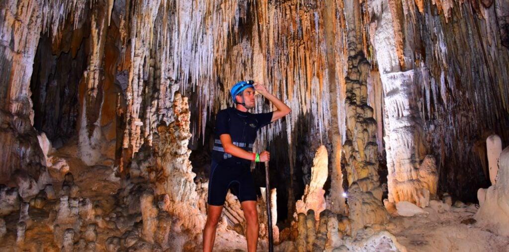 Caves in Rio Secreto Mexico