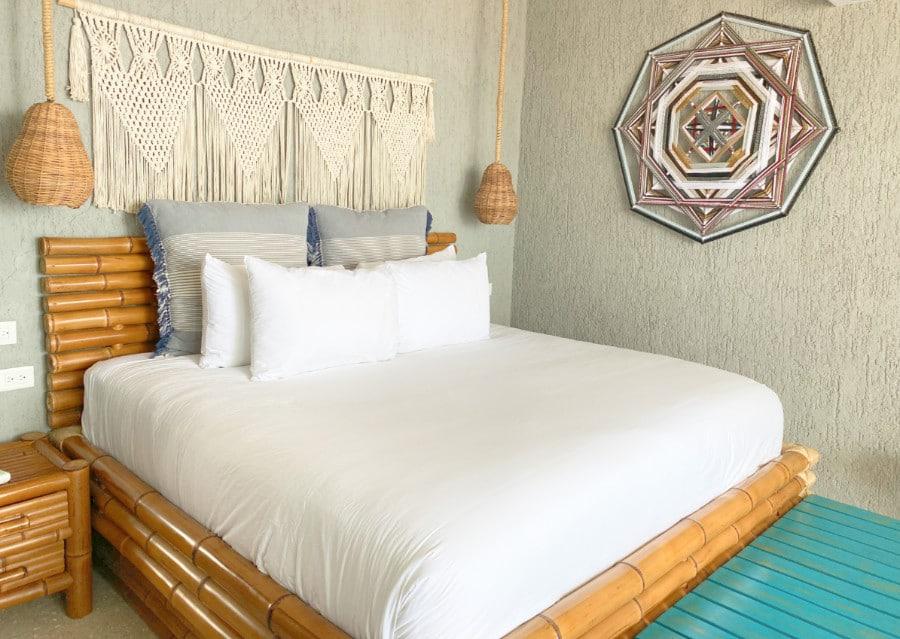 A room at the Hotelito Azul in Tulum