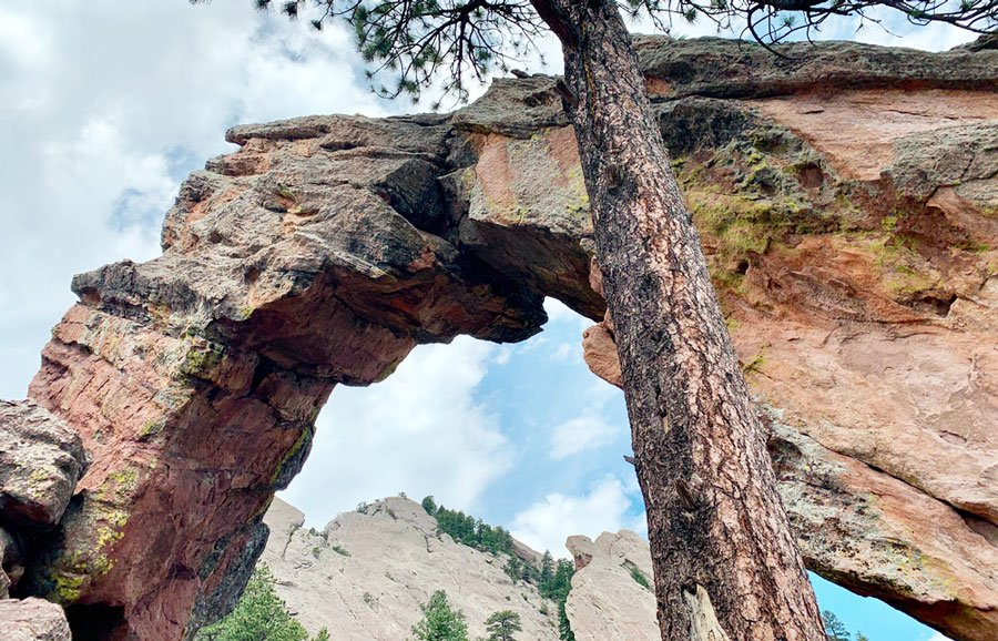 View of rock formation which is called Royal Arch