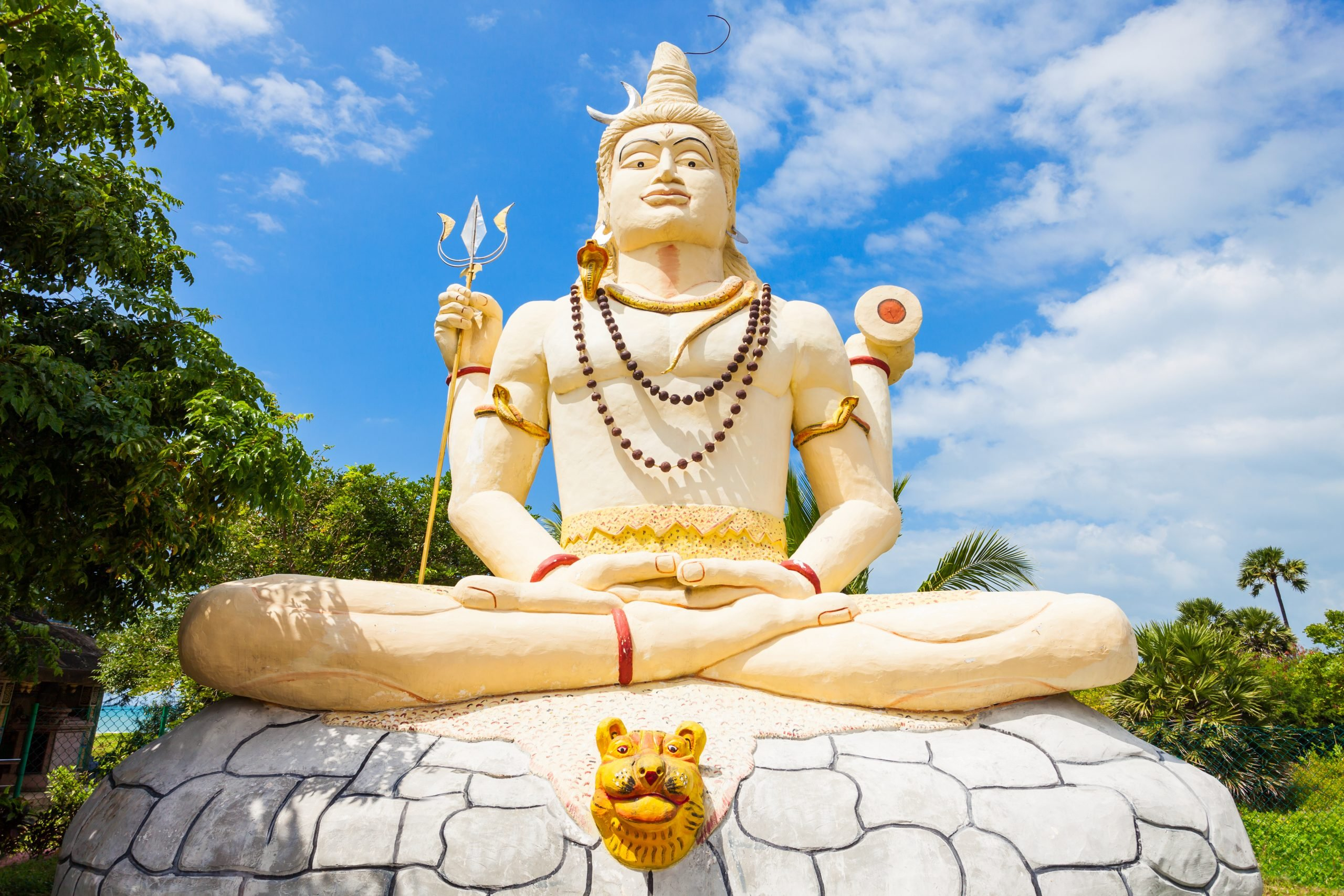 Wiew of Statue of Shiva in Jaffa, Sri Lanka