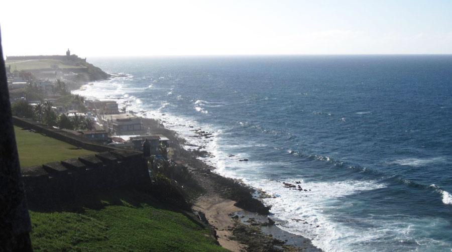View of the scenery in San Juan Bay