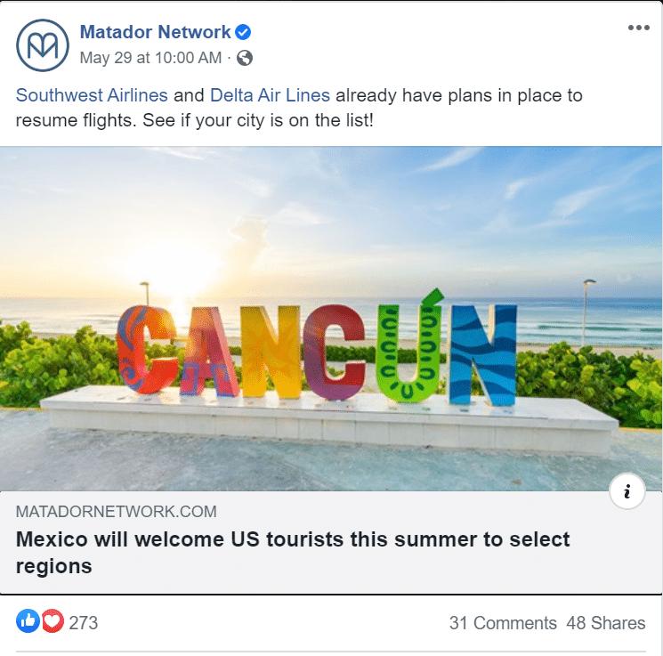 Matador Network Mexico social share post