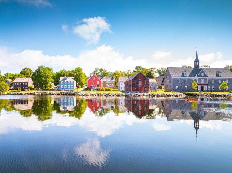 Colorful house in Shelburne, Nova Scotia