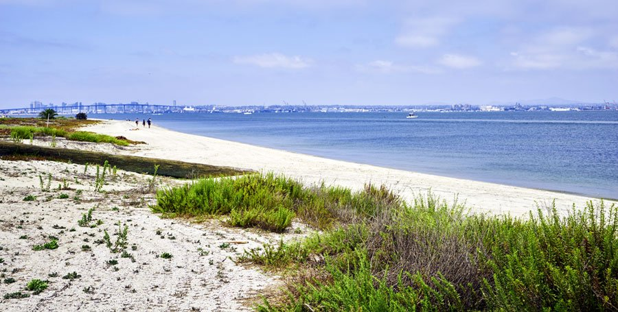 View of the Silver Strand State Beach in San Diego