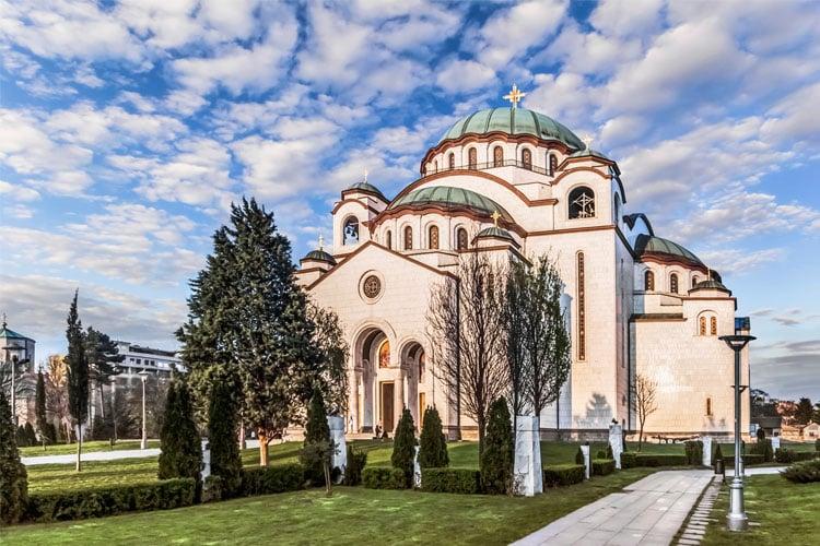 St Sava Temple in Belgrade Serbia
