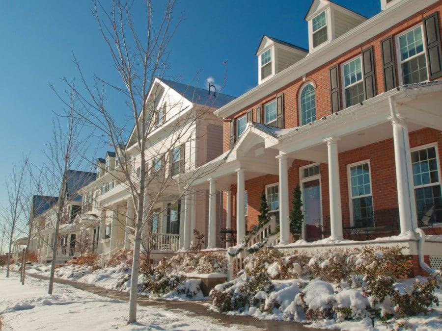 Houses in the Stapleton neighborhood of Denver