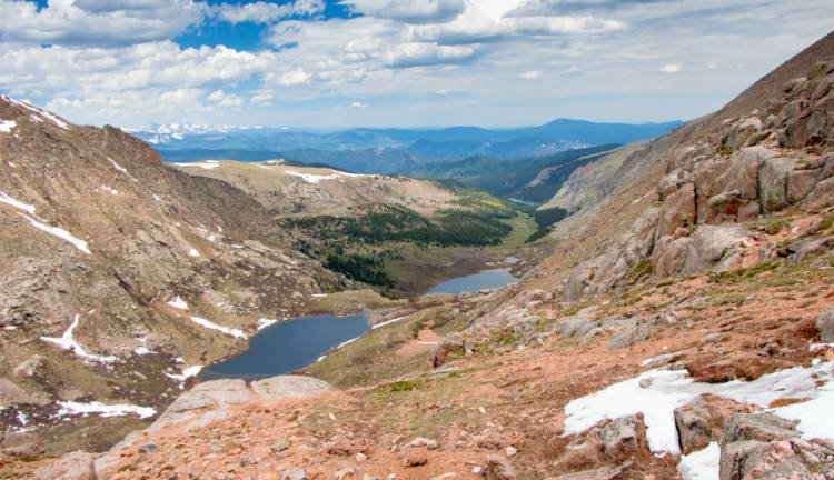 View of Summit Lake along the Mount Evans Scenic Byway