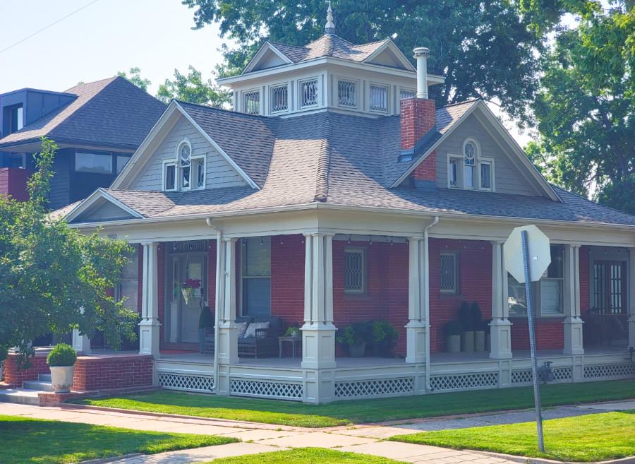 View of a large house in Denver's Sunnyside Highland neighborhood