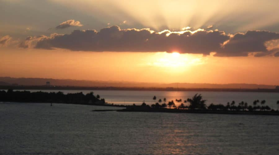 Scenic view of a sunset from El Morro
