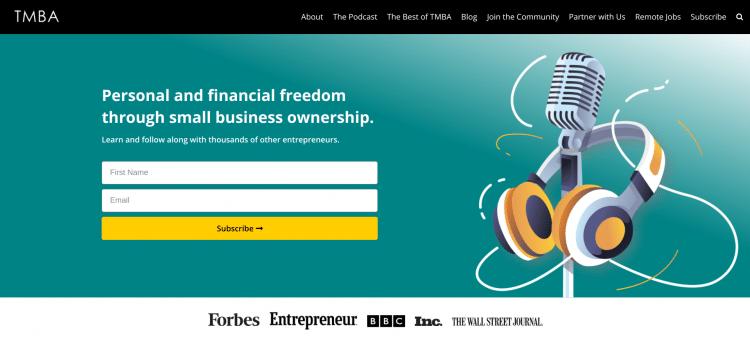 Tropical MBA digital nomad website landing page