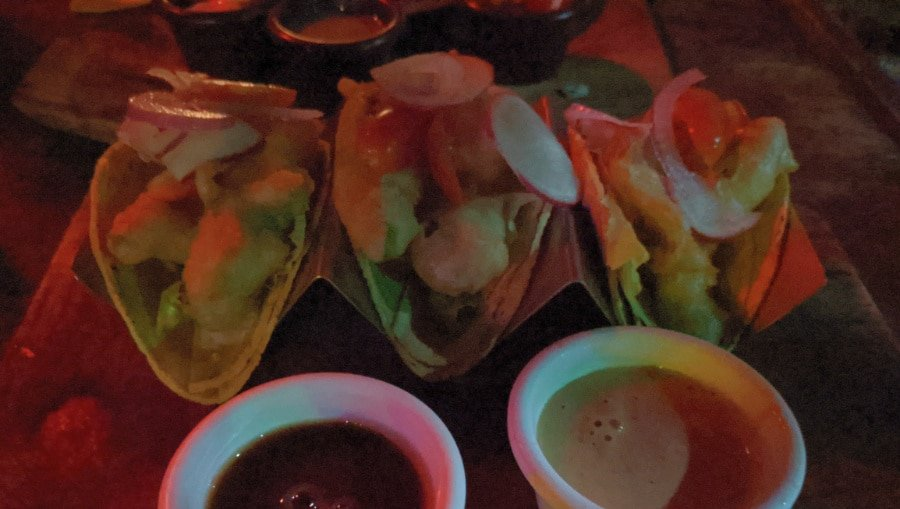 Tacos at Cafeina Restaurant