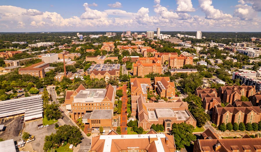 Aerial view of Tallahassee in Florida