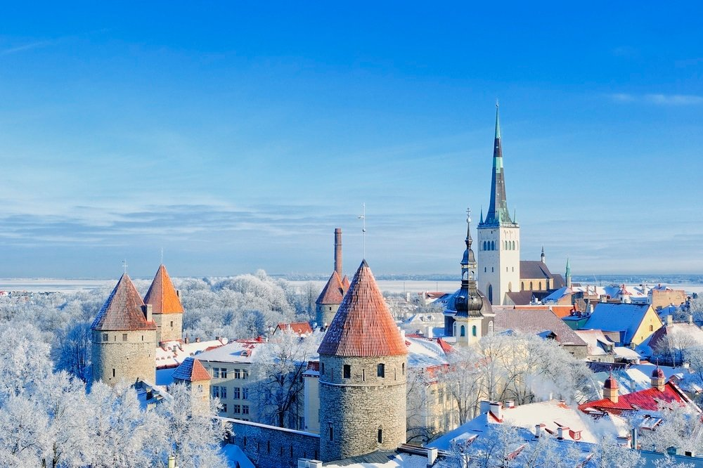 Tallinn Estonia in winter