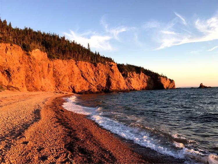 Bay of Fundy in Nova Scotia