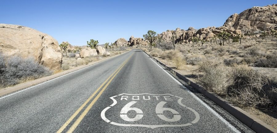 View from the Route 66, home to many of the best day trips from San Diego