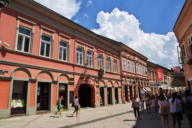 Street in Novi Sad Serbia