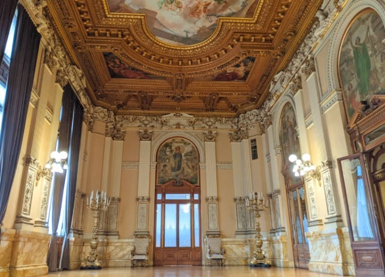 An ornate room at the Museo Nacional De Arte (MUNAL)