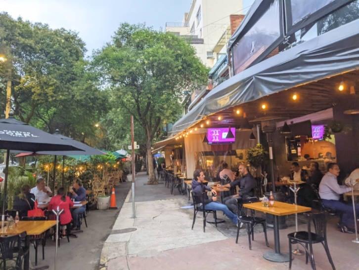 Restaurants in the Polanco area of Mexico City