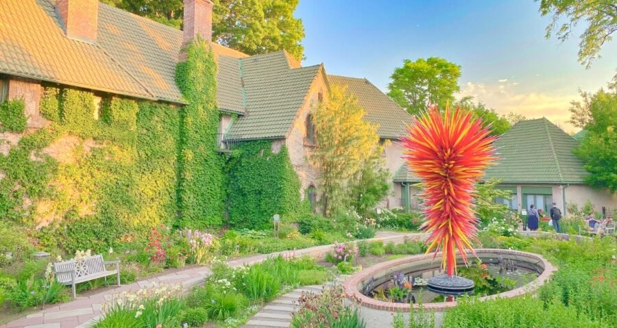Scenic view of Denver Botanic Gardens, one of the best things to do in the state of Colorado
