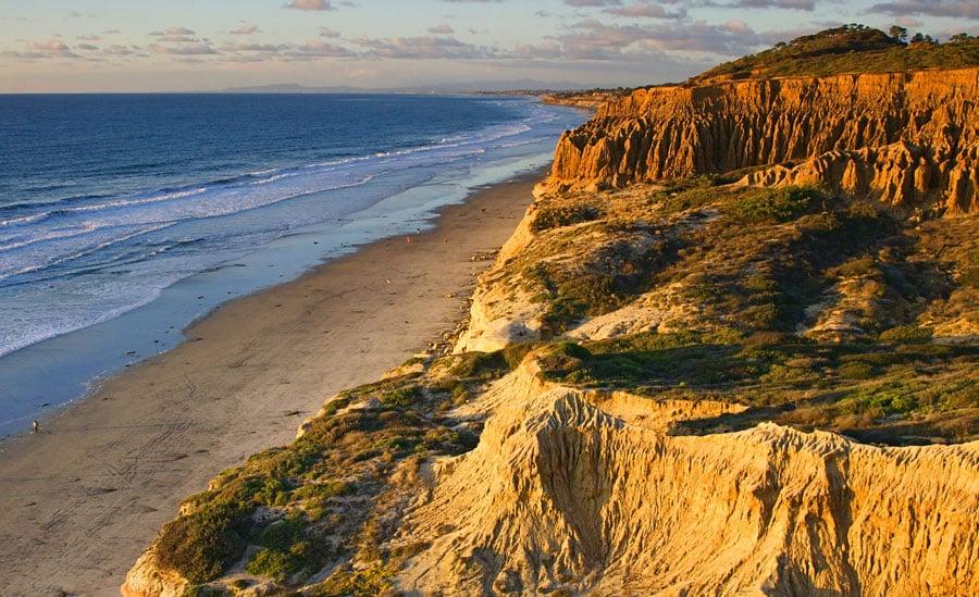 Scenic view of the California coastline