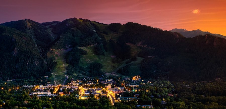 View of Aspen Town before night time