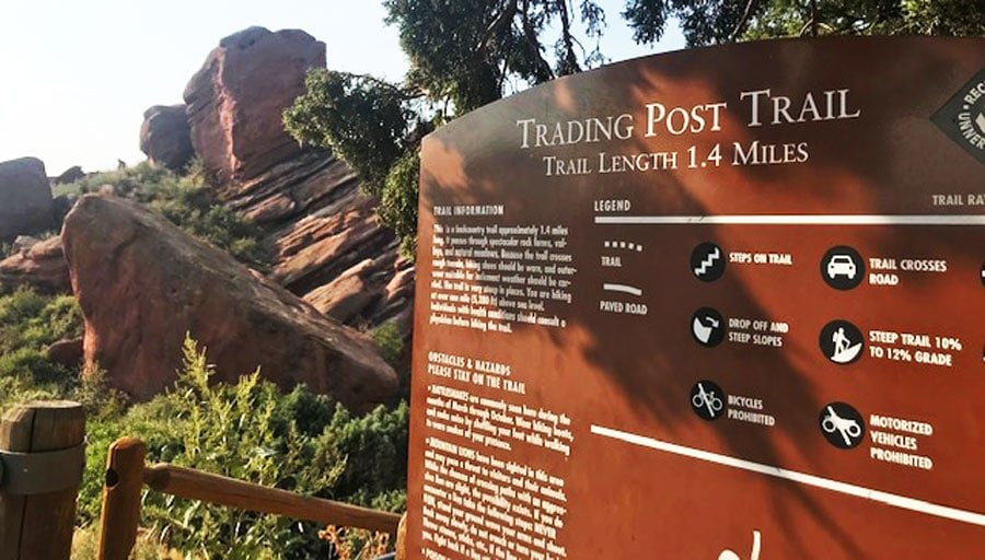 View of information about Trading Post Trail