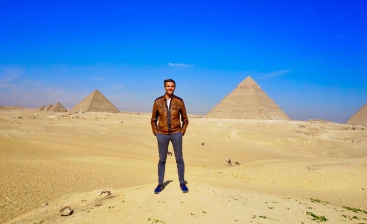 Me at the pyramids of Giza