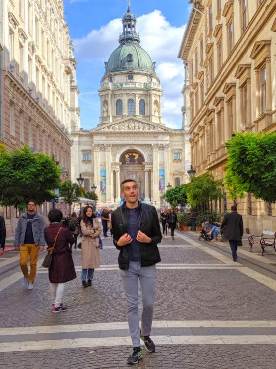 Nate Hake in Budapest