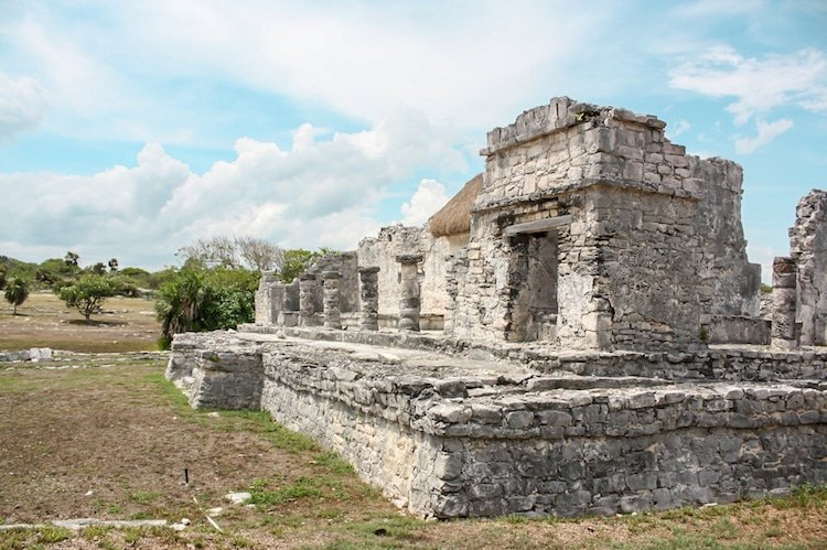Ruins of Tulum on a sunny day in Mexico's Riviera Maya region