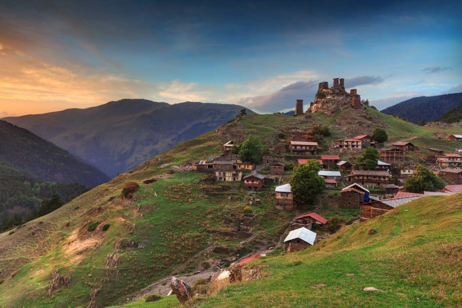 Tusheti in the country of Georgia in Europe