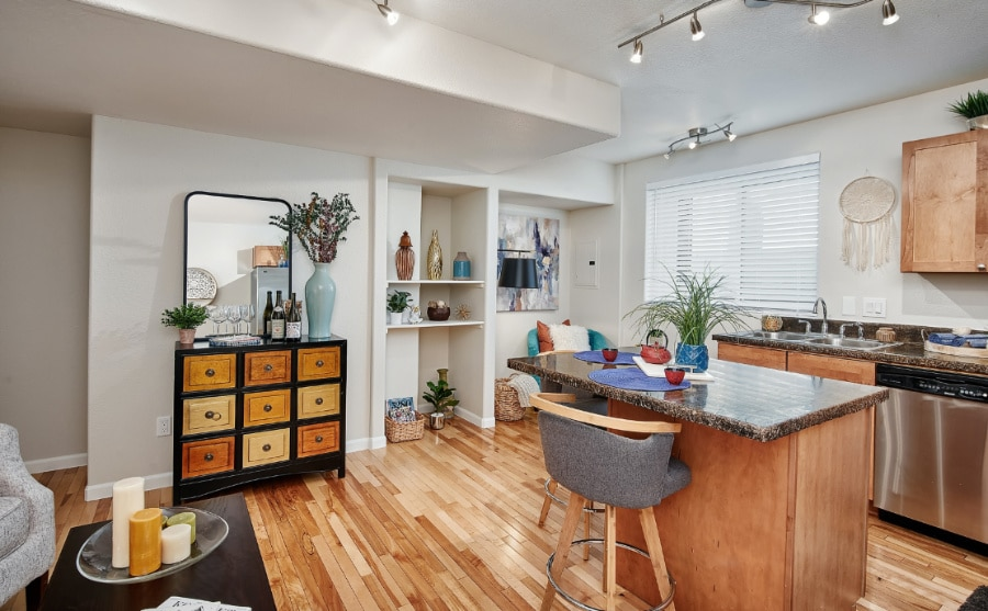 View of a Denver Uptown townhome interior